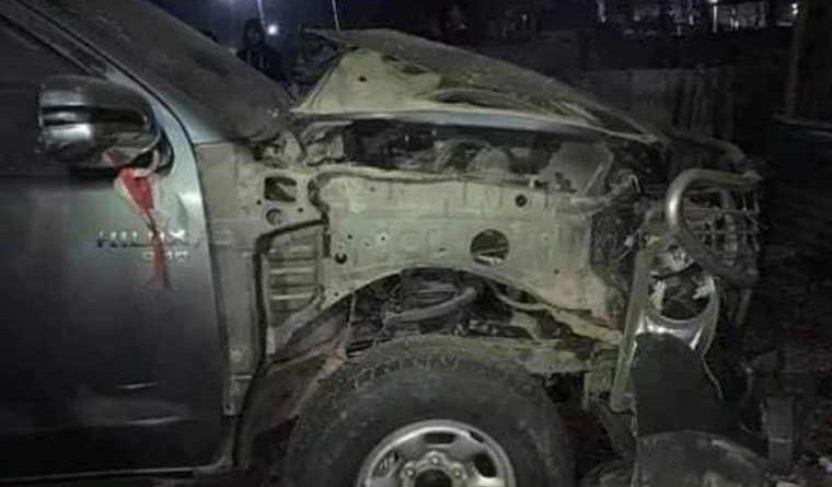 पोखराका वडाध्यक्षको घरमा बिस्फोट, गाडीमा क्षति