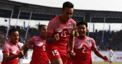 कोरोना प्रभाब: विश्वकप छनोटका खेलहरु सर्ने सक्ने१३ औं साग फुटबल(फाईनल): भुटानलाइ पराजित गर्दै नेपालले जित्यो स्वर्ण१३औं साग फुटबल(पुरुष): फाईनलमा पुग्न नेपालले बराबरी खेले पुग्ने१३ औं साग फुटबल(पुरुष ): नेपाल बिरुद्ध श्रीलंका
