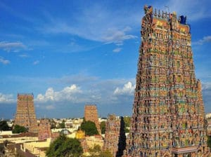५. मिनाक्षी मन्दिर, मन्दुराई- भारत