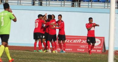 ए डिभिजन लिग : पहिलो हाफमा नेपाल पुलिस १-० अगाडी