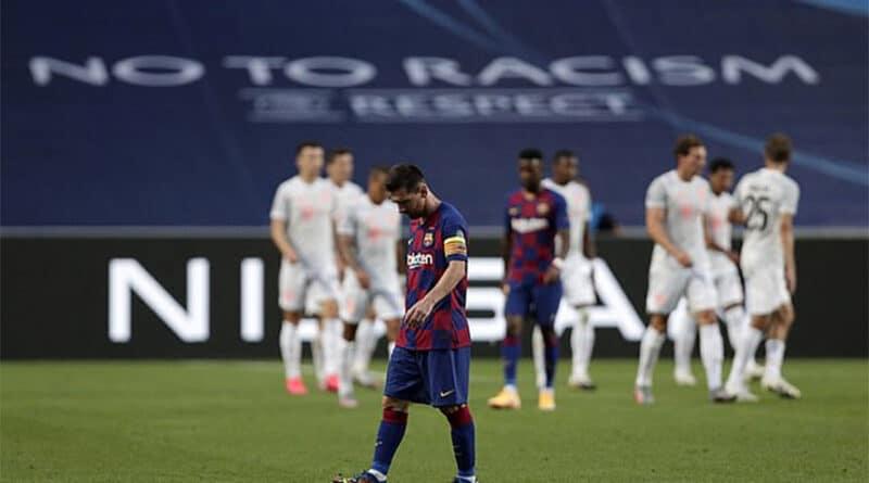 बायर्नसँग लज्जास्पद हार पछि बार्सिलोना क्वाटरफाइनलबाटै बाहिरियो